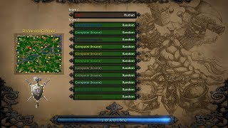 Repeat youtube video Warcraft 3. 1 vs 11 insane computers (pt.1)