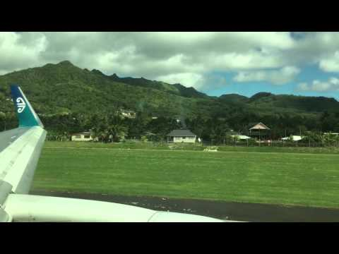 Air New Zealand B767-300ER departure takeoff taxi @ RAR Rarotonga airport