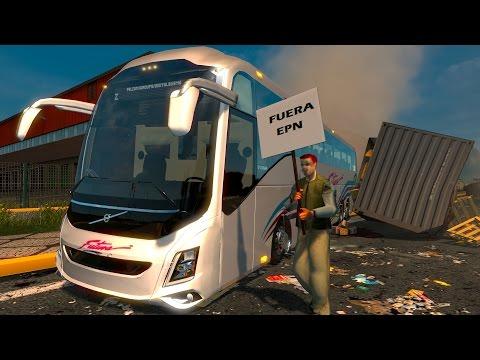 ETS2 Bus Volvo 9800 Futura! Toluca a Oaxaca Manifestación de maestros!Euro Truck Simulator 2