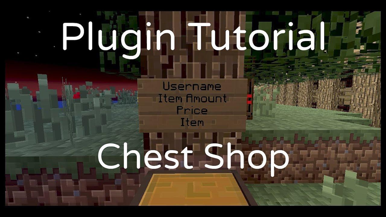 Minecraft Plugin Tutorial | Setting up a shop | ChestShop - YouTube