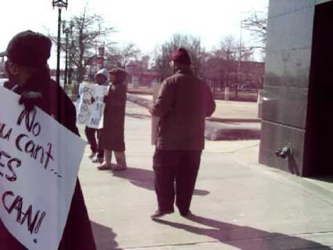 PROTEST AT NIPSCO IN GARY, INDIANA