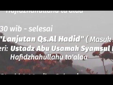 Ustadz Abu Usamah Syamsul Hadi Lc Hafizhahullahu Ta'ala