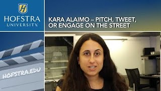 Pitch, Tweet, or Engage on the Street: HU Office Hours with Kara Alaimo
