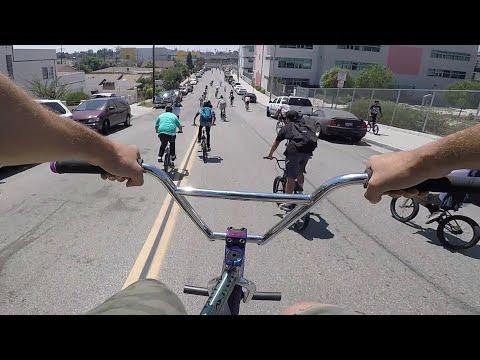 INSANE BMX MOB vs COPS