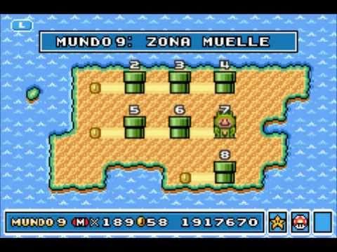 Super Mario Advance 4: Super Mario Bros 3 - Mundo 9: Zona Muelle (Trucos y Secretos)