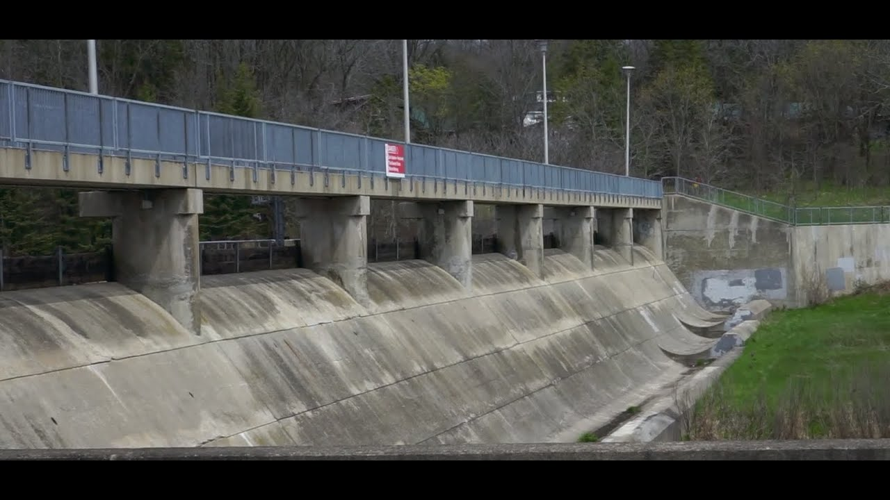 Riding a MASSIVE drainage dam! (and a ramp barn)