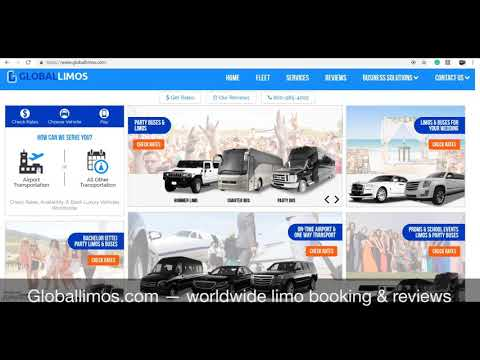 Global Limos Booking and Review Writing Platform