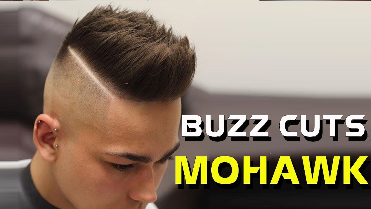 buzz cut mohawk - the shortest mohawk with buzz cut hairstyle
