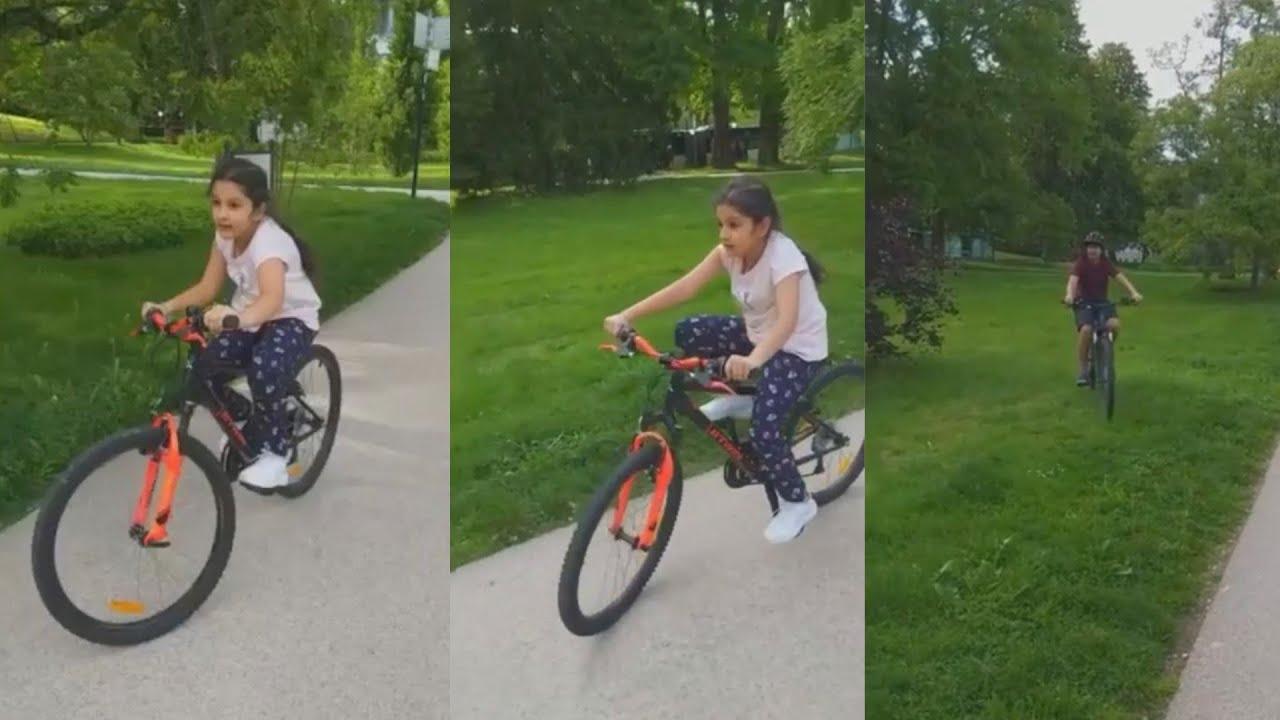 CUTE VIDEO: Mahesh Babu Daughter Sitara Cycling With Gautham | Mahesh Babu | Daily Culture