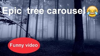 Tree carousel epic fail ★ 7 second of happiness FUNNY 😂 # 340