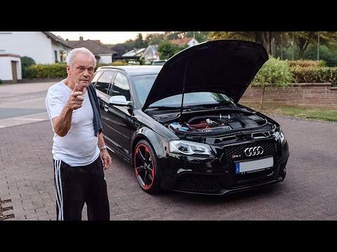 Manni und sein Bentley Grüner  Audi RS 3