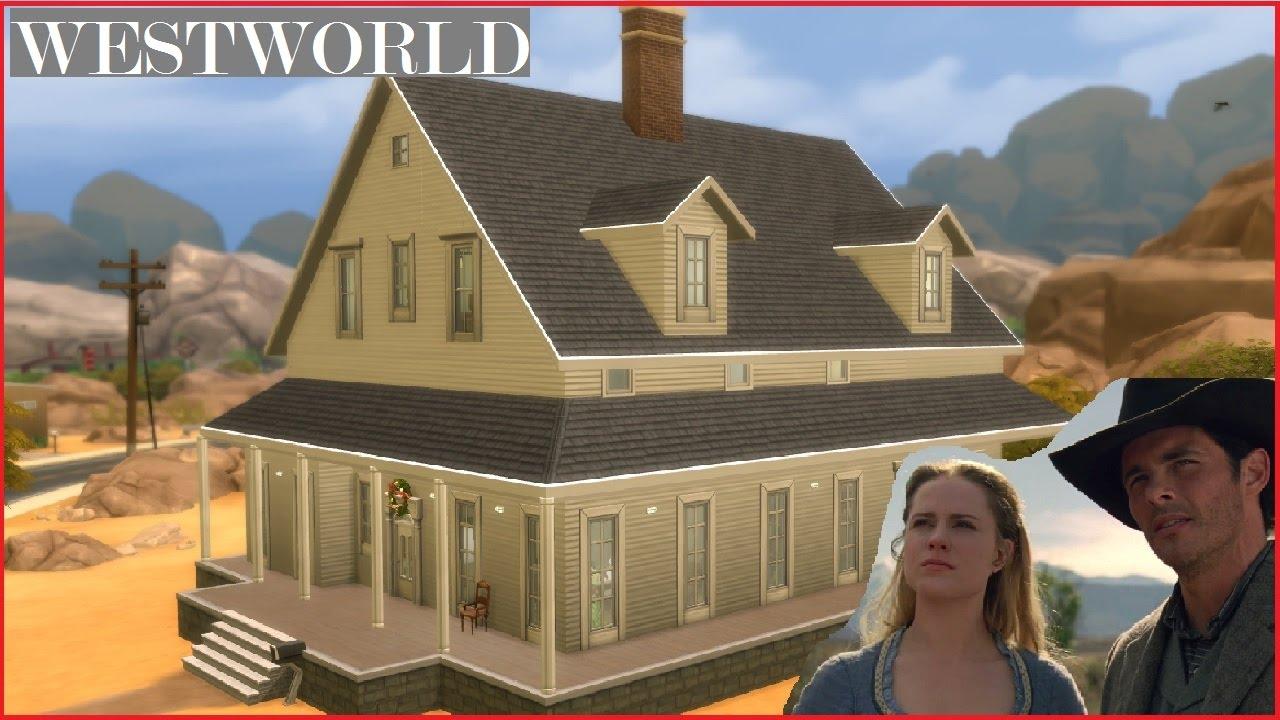 Abernathy House westworld abernathy farmhouse - sims 4 speed build - youtube