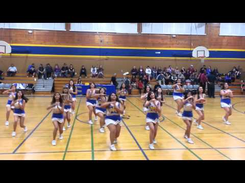 Parlier high school cheer team. 1/24/14