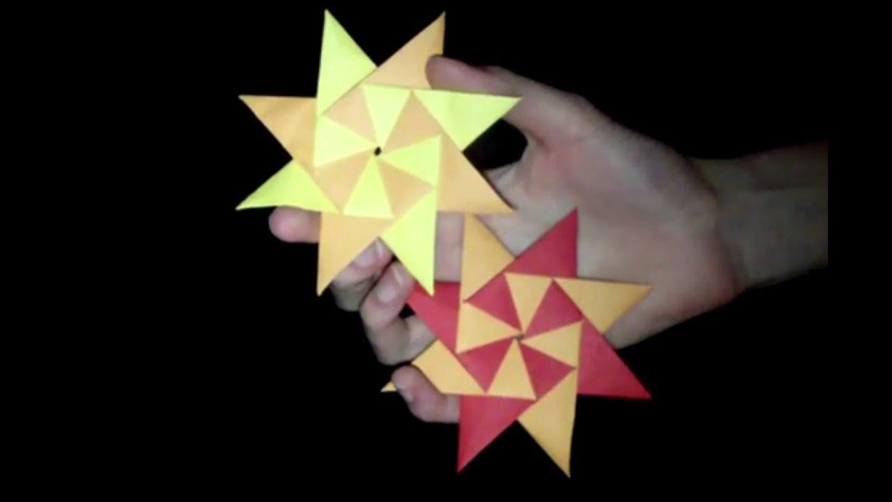 Origami Sonne: Faltanleitung [HD/deutsch] - YouTube