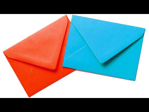 Origami paper Envelope Tutorial  easy letter card diy no glue