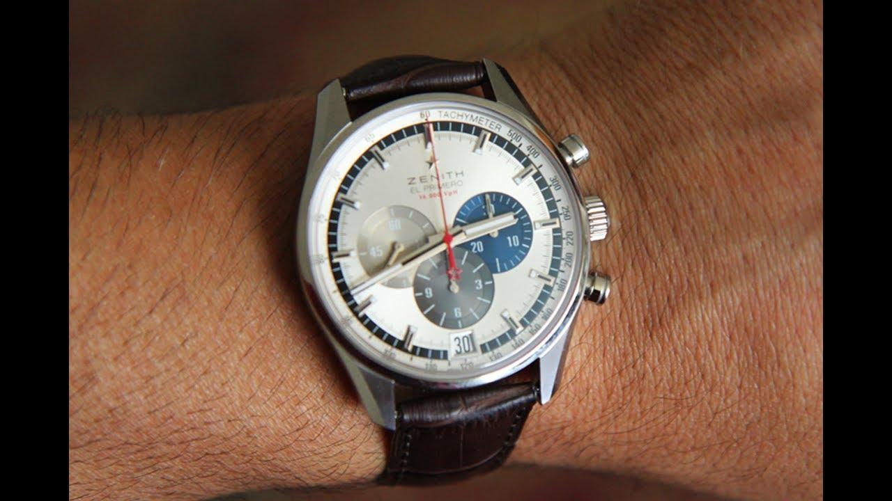 quality design 6036e 1de18 Review of the Zenith El Primero Chronomaster 42mm 36000vph tri-color