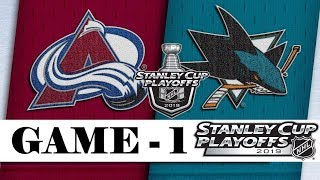 Colorado Avalanche Vs San Jose Sharks  Apr.26 2019  Game 1  Stanley Cup 2019  Обзор матча