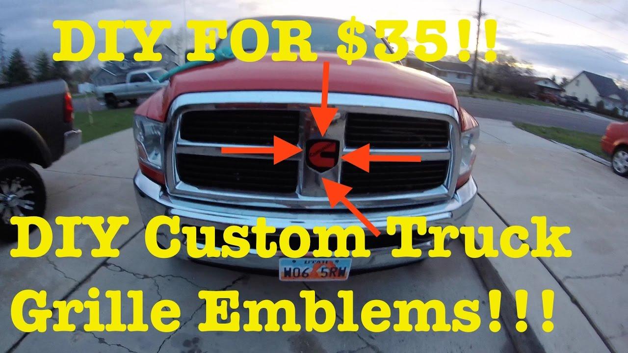 Do it yourself custom grille emblem