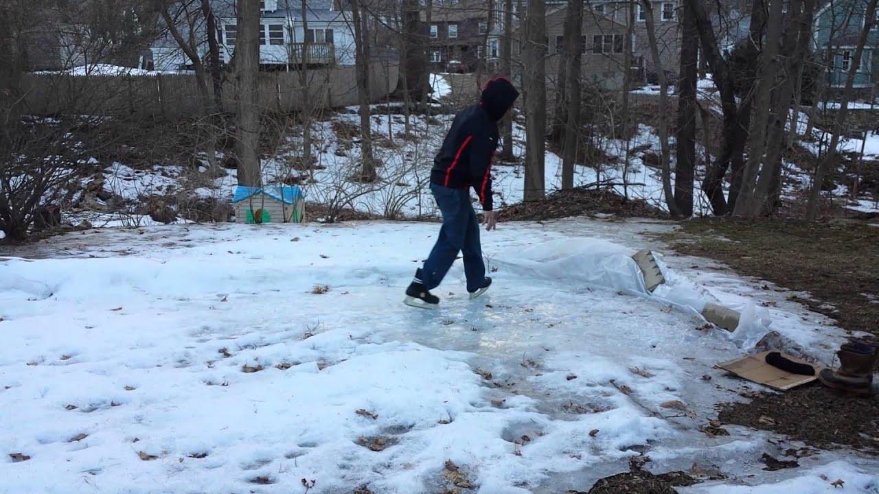 Back Yard Skating Rink Epic Failure