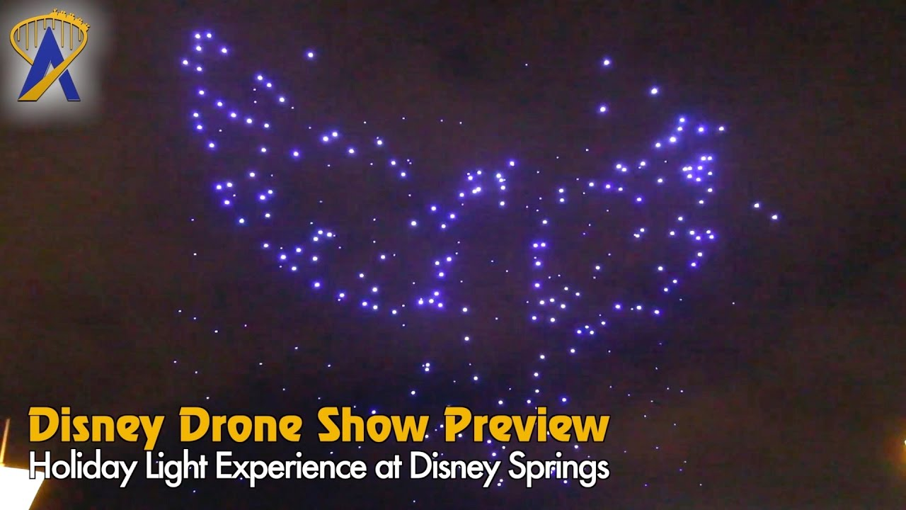 Exclusive preview of Christmas Drone Aerial show rehearsal at Disney Springs
