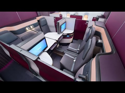 Qatar Airways A350 Qsuites from Frankfurt to Doha: world's best Business Class (AMAZING!)