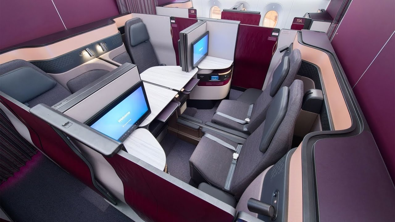 World S Best Business Class Qatar Airways Qsuite A350 From Frankfurt To Doha Amazing Youtube
