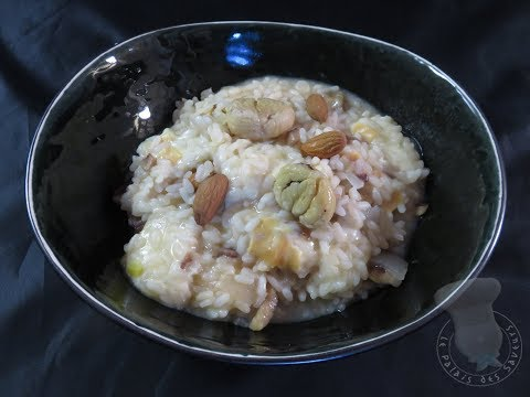 recette-de-risotto-à-la-scamorza-fumée,-amandes-et-châtaignes
