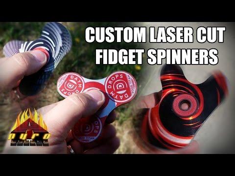 Custom Laser Cut Fidget Spinners