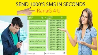 how to send many sms in one time (Tutorial)