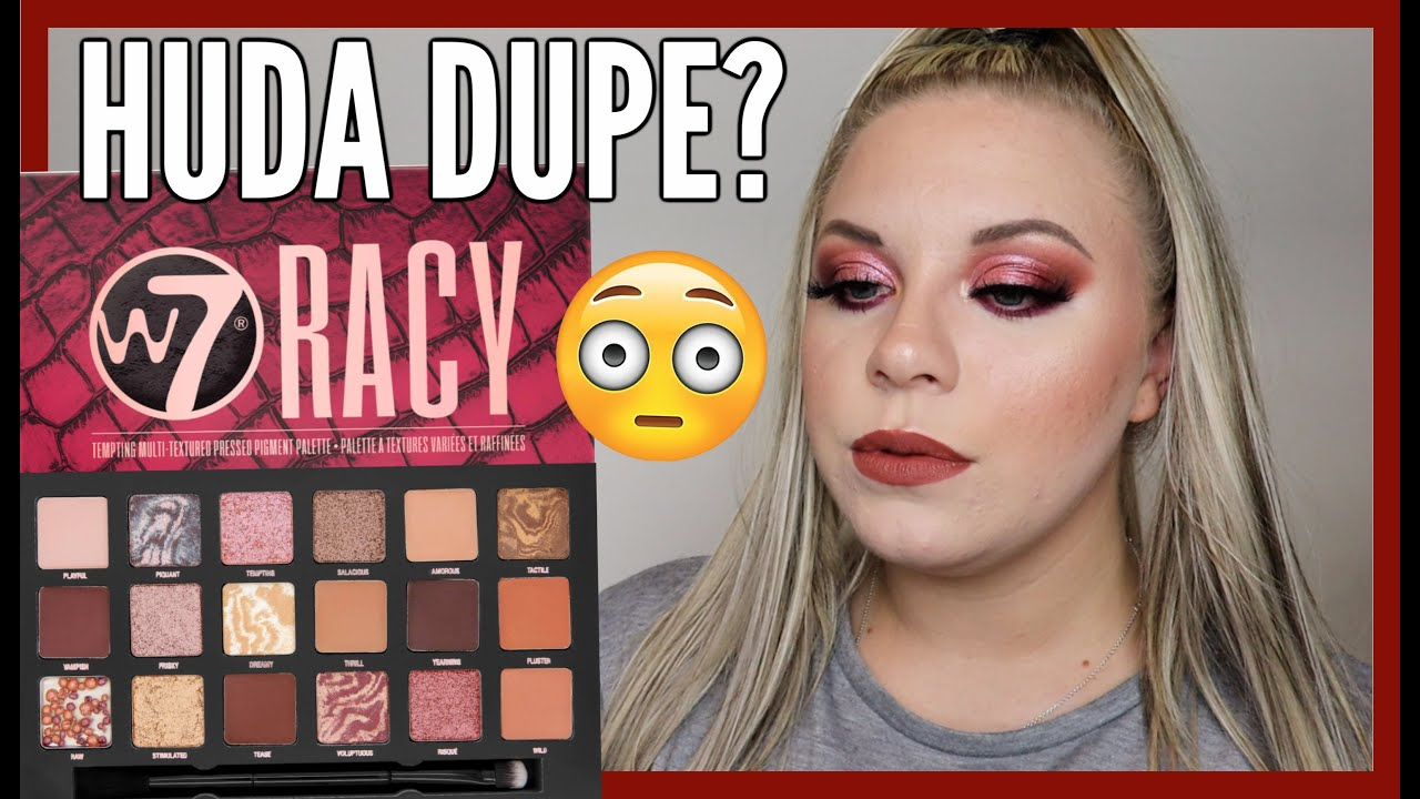 Download NEW W7 RACY EYESHADOW PALETTE REVIEW | HUDA NAUGHTY NUDE DUPE? | makeupwithalixkate