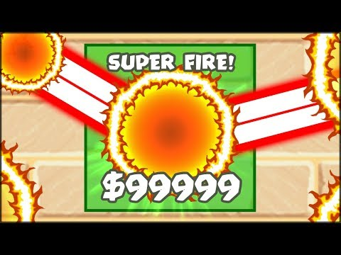 THE MOST INSANE 99999$ SUPER FIRE TOWER | Bloons TD Battles