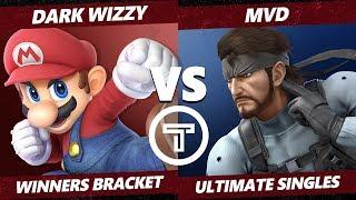 Thunder Smash 3 SSBU - MVG Dark Wizzy (Mario) VS TG MVD (Snake) Smash Ultimate Winners Bracket