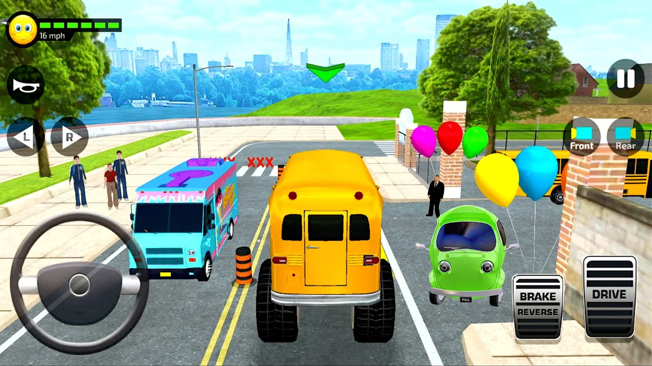 School Bus Simulator Drive 3D #1 Monster Truck Driving! Bus Games IOS Android gameplay
