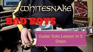 Whitesnake #JohnSykes #HowToPlay #BadBoys Whitesnake Bad Boys Guita...