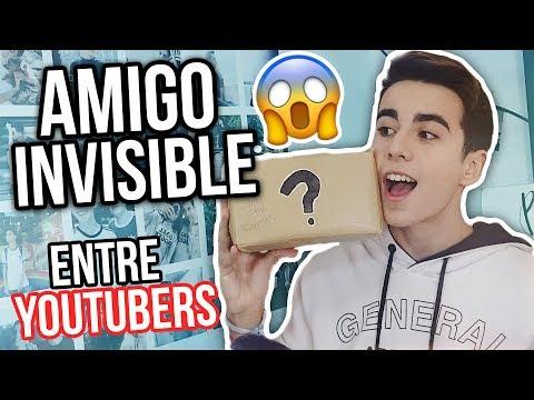 AMIGO INVISIBLE entre YOUTUBERS!! abriendo MIS REGALOS - Carlos Acosta