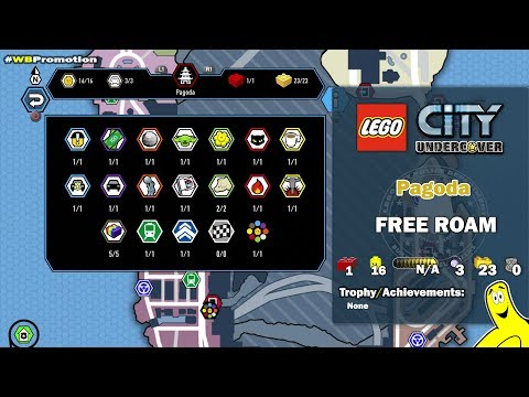 Lego City Undercover: Pagoda FREE ROAM (All Collectibles) - HTG