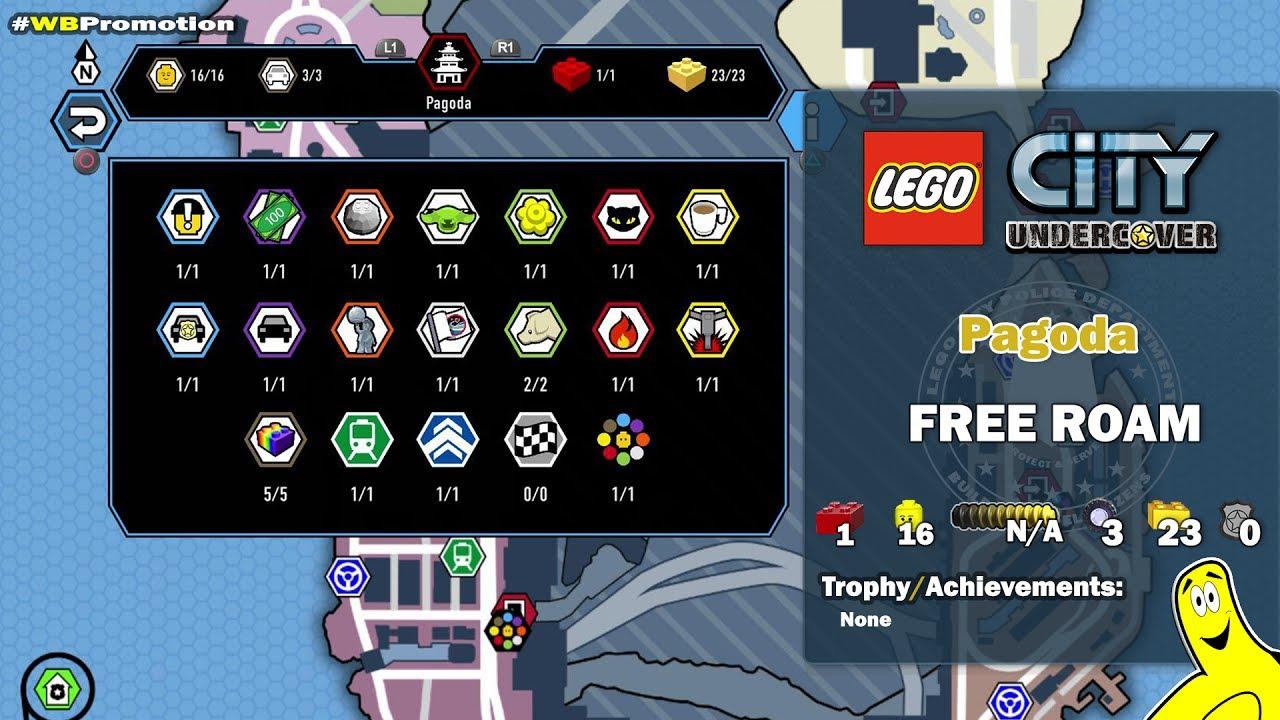 Lego City Undercover: Pagoda FREE ROAM (All Collectibles) - HTG #1