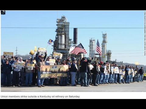 Oil Workers Union Workers On Strike
