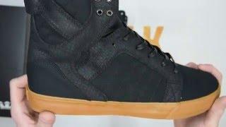 c09af396bd2922 Supra Skytop Canvas - Black   Gum - Walktall