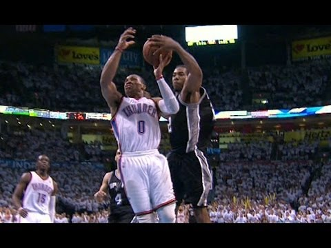 Kawhi Leonard's series-winning block on Westbrook (2014 WCF)