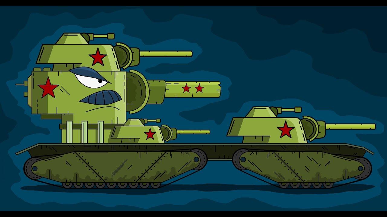 Как нарисовать Танк Стальной Дед - Мультики про танки