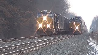 A Short But Busy Evening on CSX with Racing trains and CP