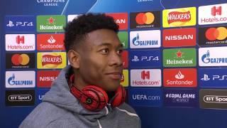 David Alaba im DAZN Interview nach Liverpool vs Bayern München