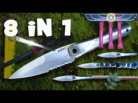 knife-making:-knife,-machete-and-spear-with-stainless-tube-diy-2
