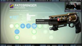 "Destiny Legendary Hand Cannon ""Fate Bringer"" Raid Gear Reward"