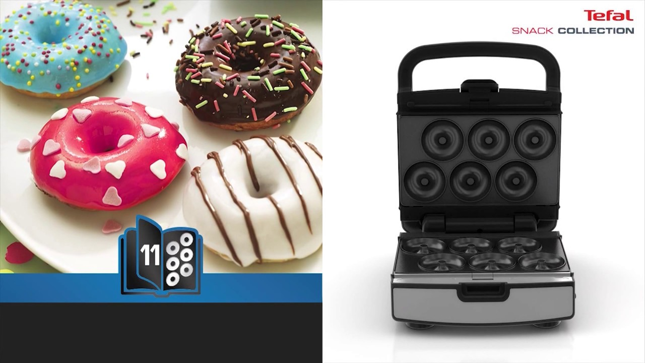 coffret snack collection tefal les donuts youtube. Black Bedroom Furniture Sets. Home Design Ideas