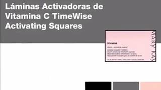 Láminas Activadoras de Vitamina C TimeWise Activating Squares