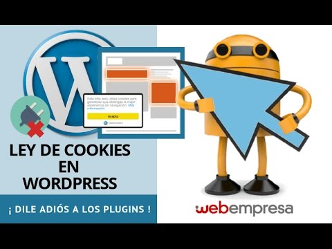 Ley de Cookies en WordPress ¡dile adiós a los plugins!