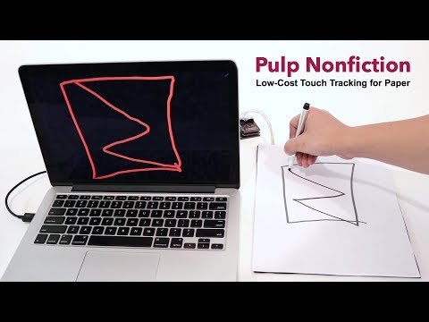 Pulp Nonfiction: Low-Cost Touch Tracking for Paper