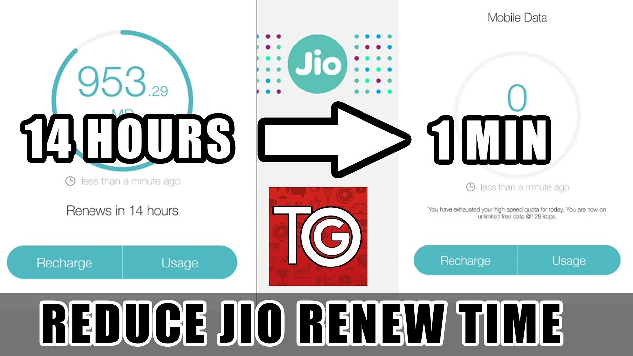 Renew/Remove Jio 1GB Limit | NO APP DOWNLOAD | For all 4G phones |  Unlimited Jio Trick 2017